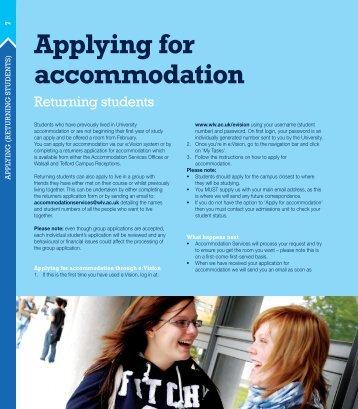 Applying for accommodation - University of Wolverhampton