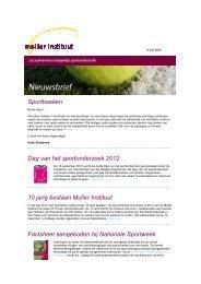 Mulier Instituut nieuwsbrief 9 mei 2012