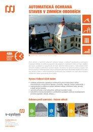 automatická ochrana staveb v zimních obdobích - V-System elektro