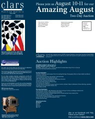 View PDF Brochure - Clars Auction Gallery