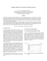 Adaptive Igniter for Extension of HID Lamp Life - International ...