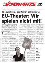 Nein zum Europa der Banken und Konzerne - SLP