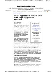Article on Dog Aggression - Understand-A-Bull