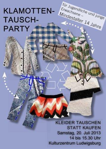 KLAMOTTEN- TAUSCH- PARTY - Stadt Ludwigsburg