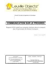 Leuville coP 2010 - Le Pacte Mondial
