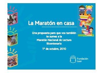 La Maratón en casa - Maratón Leer - Fundación Leer
