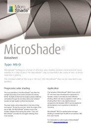 Type: MS-D - MicroShade™ Solar shading solar control sun protection