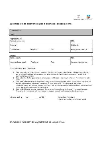 Justificació de subvenció per a entitats i associacions - Esports
