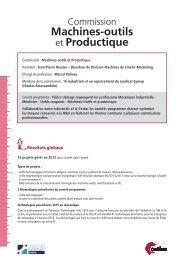 Fiche Commission Machine-Outil - Juin 2013 - Cetim