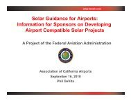 Solar Guidance for Airports: Information for Sponsors on ... - HMMH