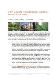 Vom Zauber französischer Gärten… - Vivat-Kultur
