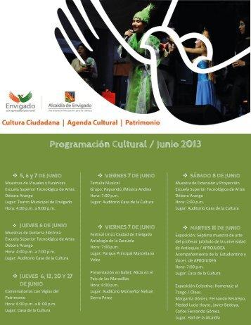 Programación Cultural / Junio 2013 - Envigado