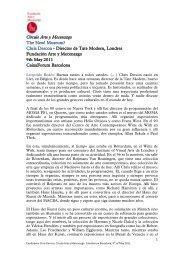 Círculo Arte y Mecenazgo The New! Museum? - Fundación Arte y ...
