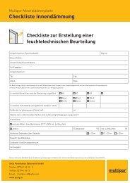 Checkliste Innendämmung - Ytong