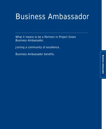 Business Ambassador - Partners in Project Green