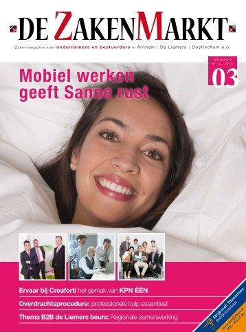 Mobiel werken geeft Sanne rust - jez media services
