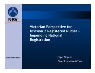 Victorian Perspective for Division 2 Registered Nurses - Australian ...