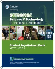 University Network Student Day Abstract Book - Oak Ridge Institute ...