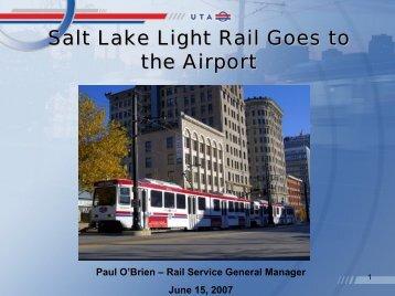 Paul O'Brien - Data Interchange for Air-Rail Managers