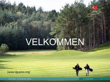 Social reasons Sports/athletics Club - Dansk Golf Union