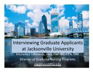 Interviewing Graduate Applicants at Jacksonville University - AACN