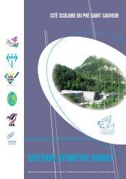 SECTION SPORTIVE RUGBY - Mission TICE - Rectorat de l ...