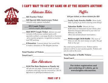 Admission Tickets Team Advertisers