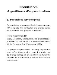 Chap^ tre VI. Algorithmes d'approximation - Lita