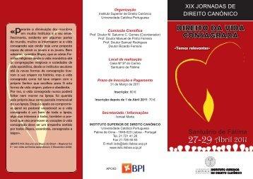 Programa - Universidade Católica Portuguesa