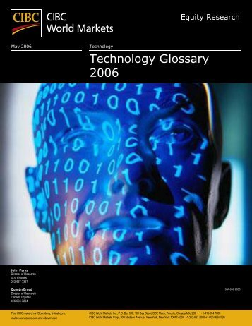 Technology Glossary 2006 - CIBC World Markets