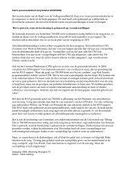 Het recente alarm van de Raad voor de ... - Provincie Zeeland