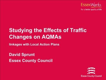 Modelling the transport impacts within an AQMA - IAPSC