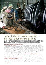 Turbo-Technik in Wilhelmshaven: Ein internationales Multitalent