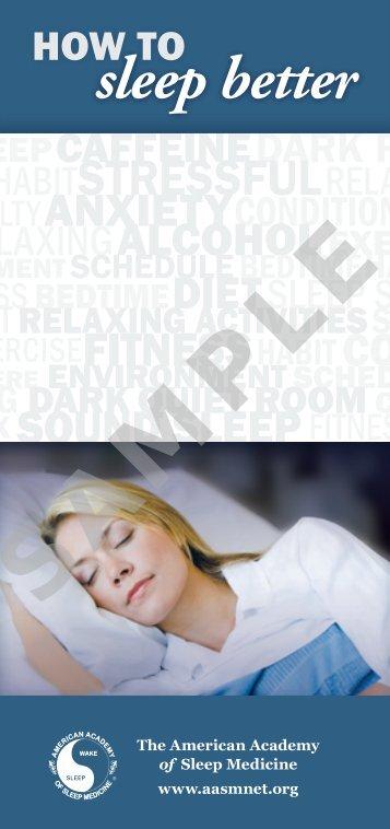 sample of the brochure - American Academy of Sleep Medicine