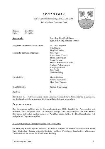 4. Gemeinderatsprotokoll (163 KB) - .PDF - Gemeinde Oetz