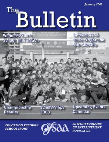 January 2008 - Ontario Federation of School Athletic Associations