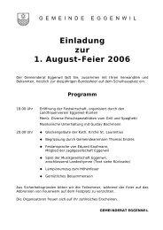Einladung zur 1. August-Feier 2006 - Eggenwil