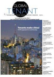 Titre de la couverture : - International Union of Tenants