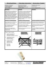 Betriebsanleitung Operating instructions ... - Leutron GmbH