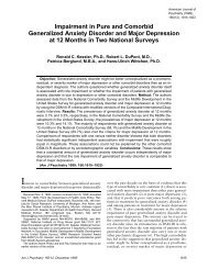 Impairment in Pure and Comorbid Generalized Anxiety ... - MIDUS