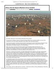 Africa wins the Square Kilometre Array mandate - SKA