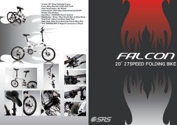 """Falcon is a 20"""" 27speed folding bike - SRS BIKE"""