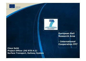 European Rail Research Area - International Cooperation FP7 - UIC