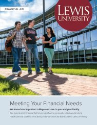 FINANCIAL AID OPPORTUNITIES - Lewis University