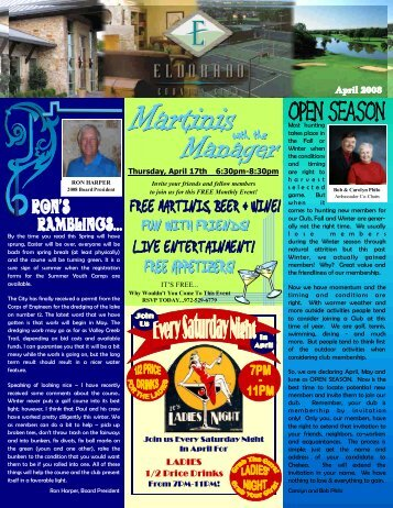 April 2008 Newsletter Draft