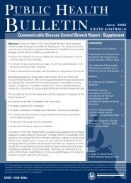 Public Health Bulletin CDCB Supplement, June 2005
