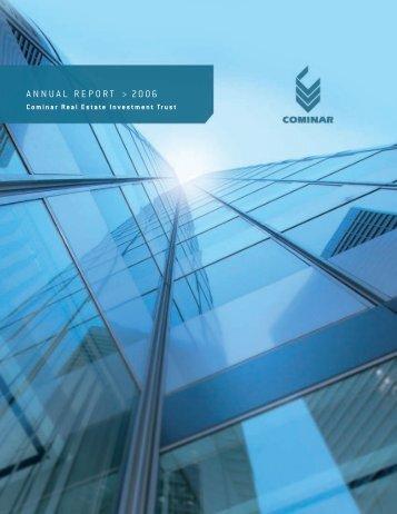 ANNUAL REPORT > 2006 - Cominar