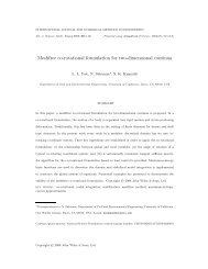 Meshfree co-rotational formulation for two-dimensional ... - CiteSeerX