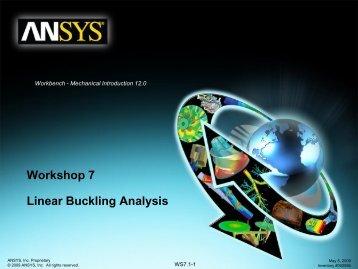 WS7.1: Linear Buckling