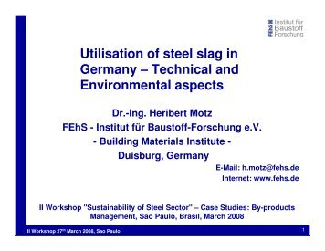 Utilisation of steel slag in Germany – Technical and ... - ABM